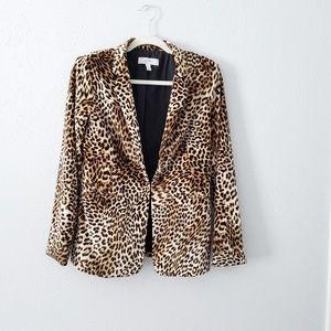 Libby Edelman Cheetah Blazer size